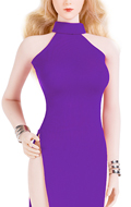 Female Evening Dress Set (Purple)
