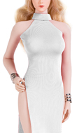 Female Evening Dress Set (White)