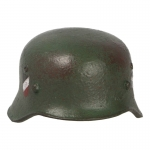 Worn Double Decals M35 Helmet (Olive Drab)