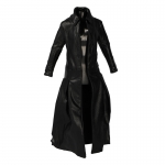Female Leather Coat (Black)