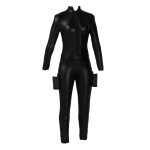 Leather Female Suit with Holsters (Black)