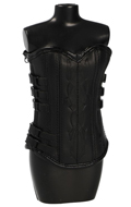 Leather Female Corset (Black)