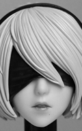 Nier Warrior Girl Headsculpt