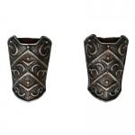 Armures d'avant bras de Viking en métal (Gris)