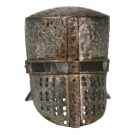 Worn Diecast Knight Templar Bachelor Helmet (Grey)
