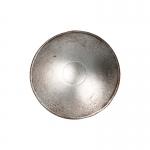 Bouclier de Chevalier en métal aspect usé (Argent)