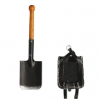 Shovel with Leather Cover (Black)