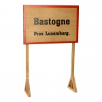 Bastogne Prov. Luxemburg. Road Sign (Beige)