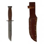 Couteau Ka-Bar avec étui en cuir (Gris)