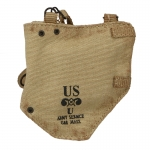 Worn M5 Gas Mask Pouch (Beige)