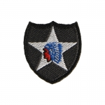Patch 2ème Division d'Infanterie Indian Head (Noir)