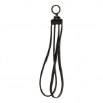 Tri-Fold Disposable Restraints Handcuff (Black)