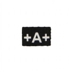 A Positif Blood Group Patch (Black)