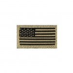 US Flag Patch (Gold)
