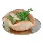 Taco aux légumes avec assiette en métal (Beige)