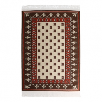 20x30cm Real Woven Carpet (Brown)