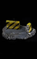 Display Stand Diorama rue avec barrages routiers (Gris)