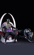 Black Panther Throne with Statue (Black)