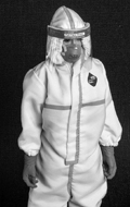 Female Disposable Protective Clothing Set (White)
