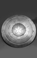 Diecast Captain Star Battle Damaged Shield (Grey)