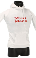 Sweat à capuche Mini Mack (Blanc)