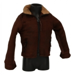 Worn Suede Jacket (Brown)