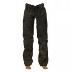 Jeans  aspect usé (Gris)