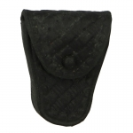Worn Basketweave Handcuffs Pouch (Black)