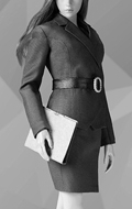 Office Lady Female Suit Set (Grey)