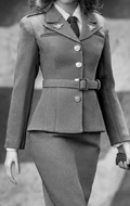 Set WWII US Army Agent Uniform Femme