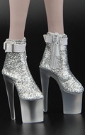 Female Heeled Shoes (Silver)