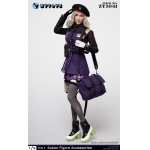 Female Sexy Military Suit Set (Purple)