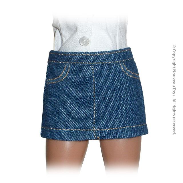 uniform series mini jupe en jeans femme bleu machinegun. Black Bedroom Furniture Sets. Home Design Ideas