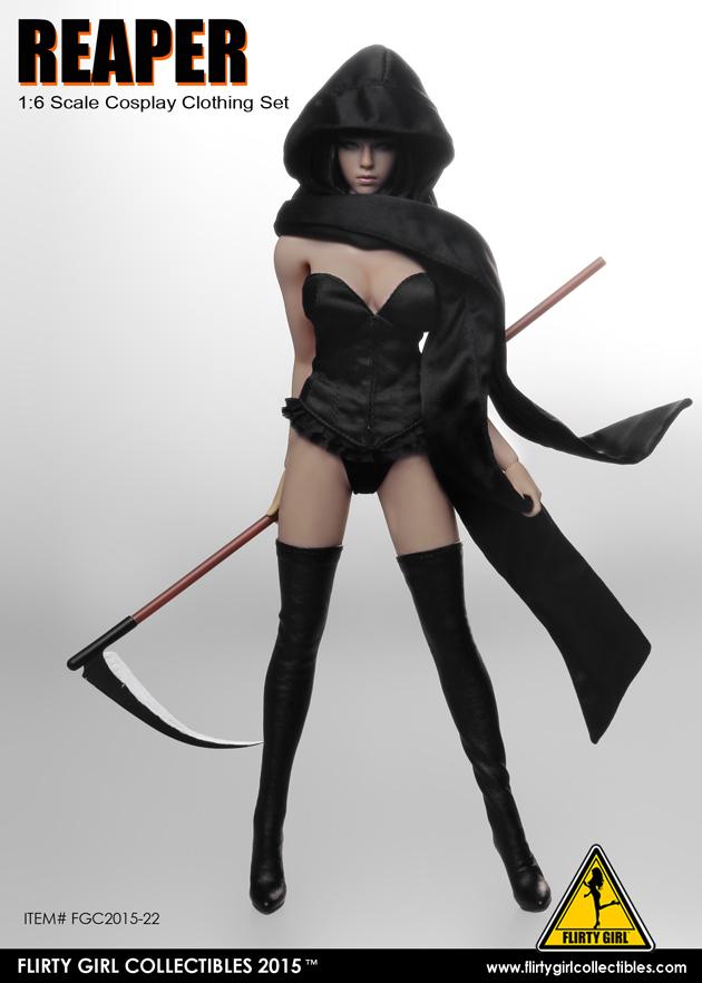 82f963e9cea Female Reaper Cosplay Clothing Set