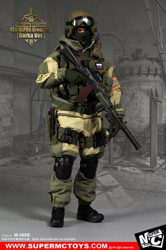 1//6 Scale Russian SPETSNAZ FSB ALPHA GROUP 3.0 Noir Sac à dos
