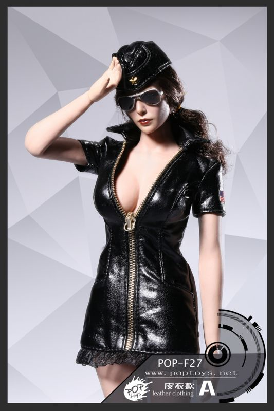 Cuir Set FemmenoirMachinegun Vêtements Militaires Sexy En DH29EI