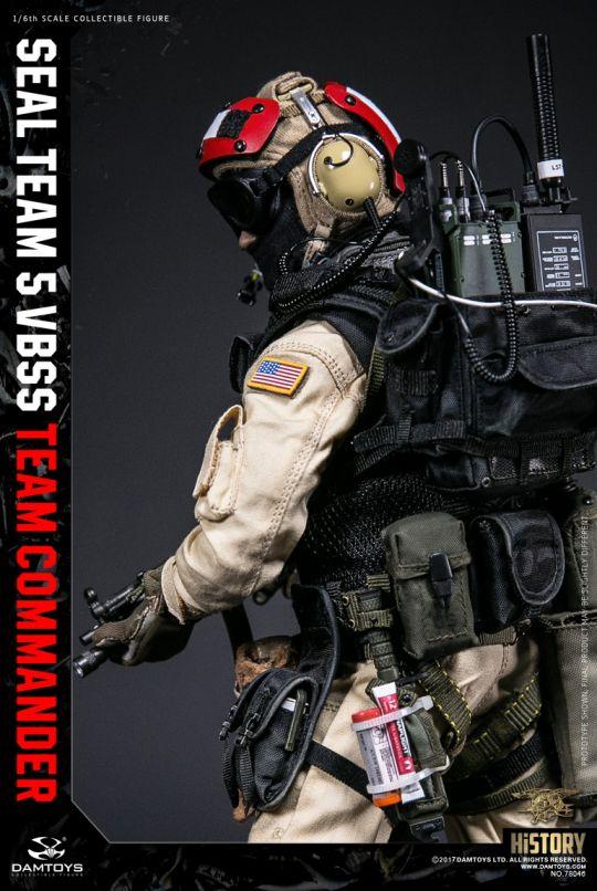 1//6 Scale Toy NAVY SEAL TEAM 5 VBSS Commander Flight Deck Casque Avec Casque Radio