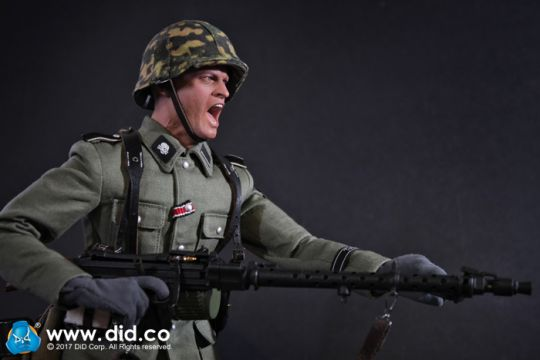 As-Alois Deuxième Guerre Mondiale Allemand MG Gunner Gants 1//6 Toys 3R Dragon Bbi Soldier Dam