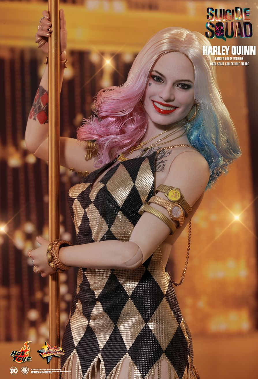 "1//6 Harley Quinn Pole Dance robe Suicide Squad pour PHICEN 12/"" Hot Toys figure"