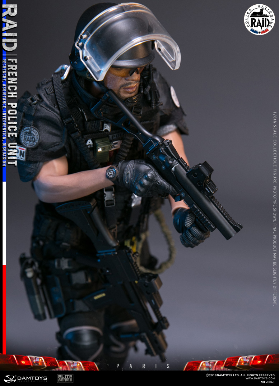 Français unité de police RAID-Radio /& Casque 1//6 Scale-Damtoys Action Figures