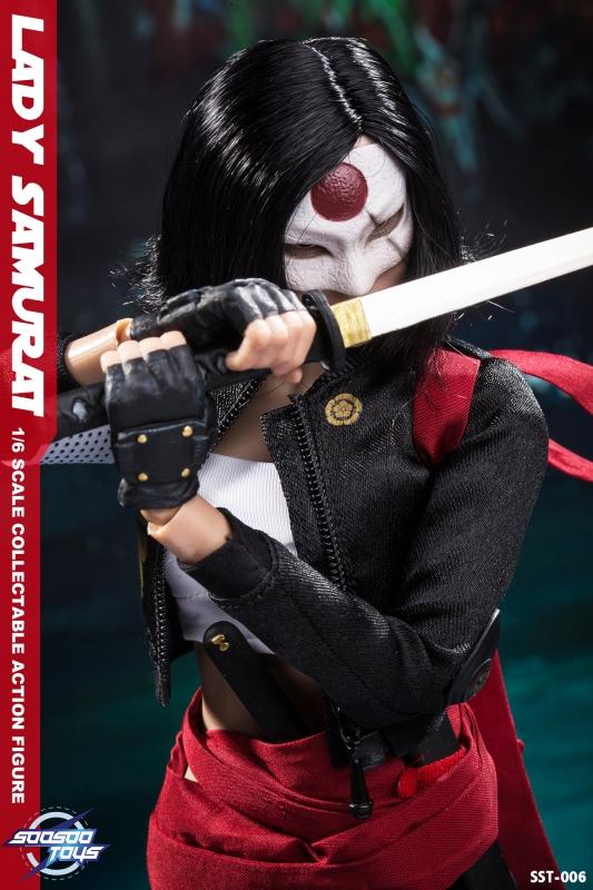 Lady Samurai-Genouillères 1//6 Scale-soosoo Action Figures