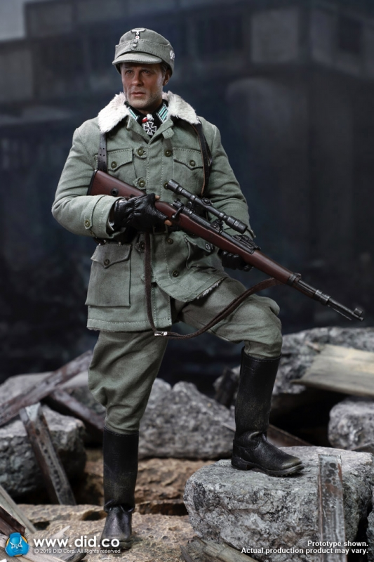 Major Erwin Konig-Gants en cuir 1//6 Scale-DID Action Figures