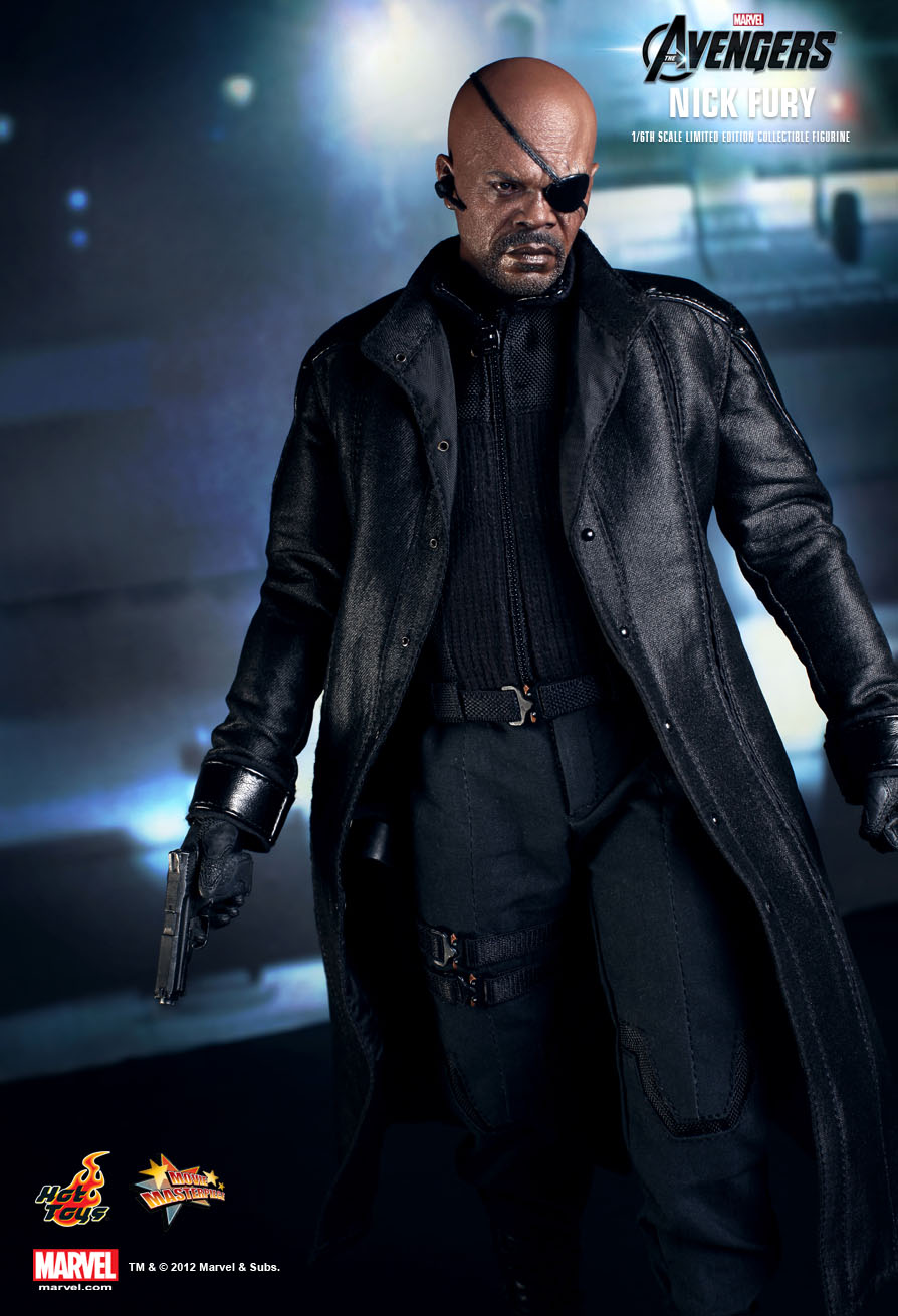 In Stock Hot Toys Marvel The Avengers Nick Fury Samuel Jackson 1//6 Figure